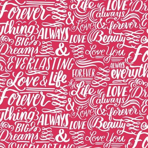Love Forever Lettering - coral