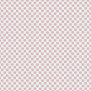 Red Circle Tile - White