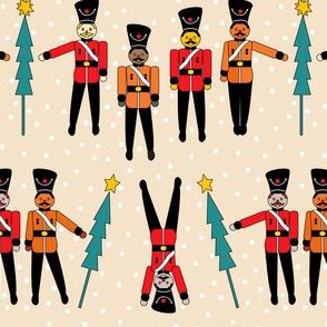 Nutcracker soldiers -many skin colors