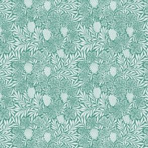 William Morris ~ Jungle Vines ~ White on Peacoquette