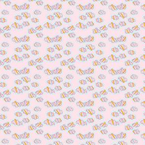 Stripy Clouds - Pink