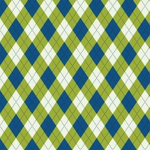 Argyle in Blue & Green
