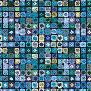 Granny Square Blue Green