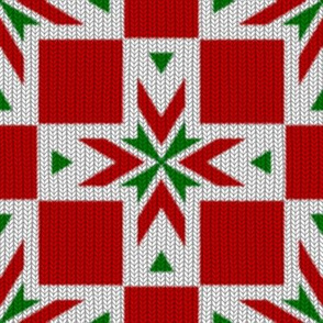 Christmas Crosses ~ Knit ~ Faro and Richelieu