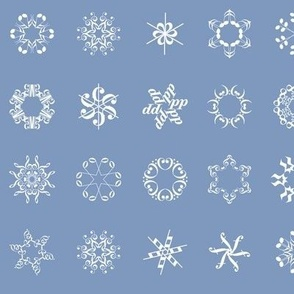 musical snowflakes on frosty blue
