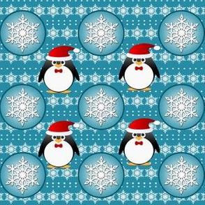 Snowflake Penguins Pattern