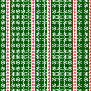 Snowflakes Ribbons Green