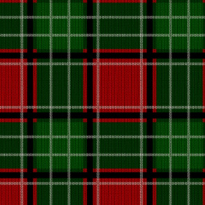 Custom Tartan ~ MacNicholas ~ Christmas Eve ~ Faux Knit