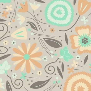 Petal Potpourri Floral (Serene)