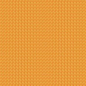Stockinette Stitch (Orange/Yellow)