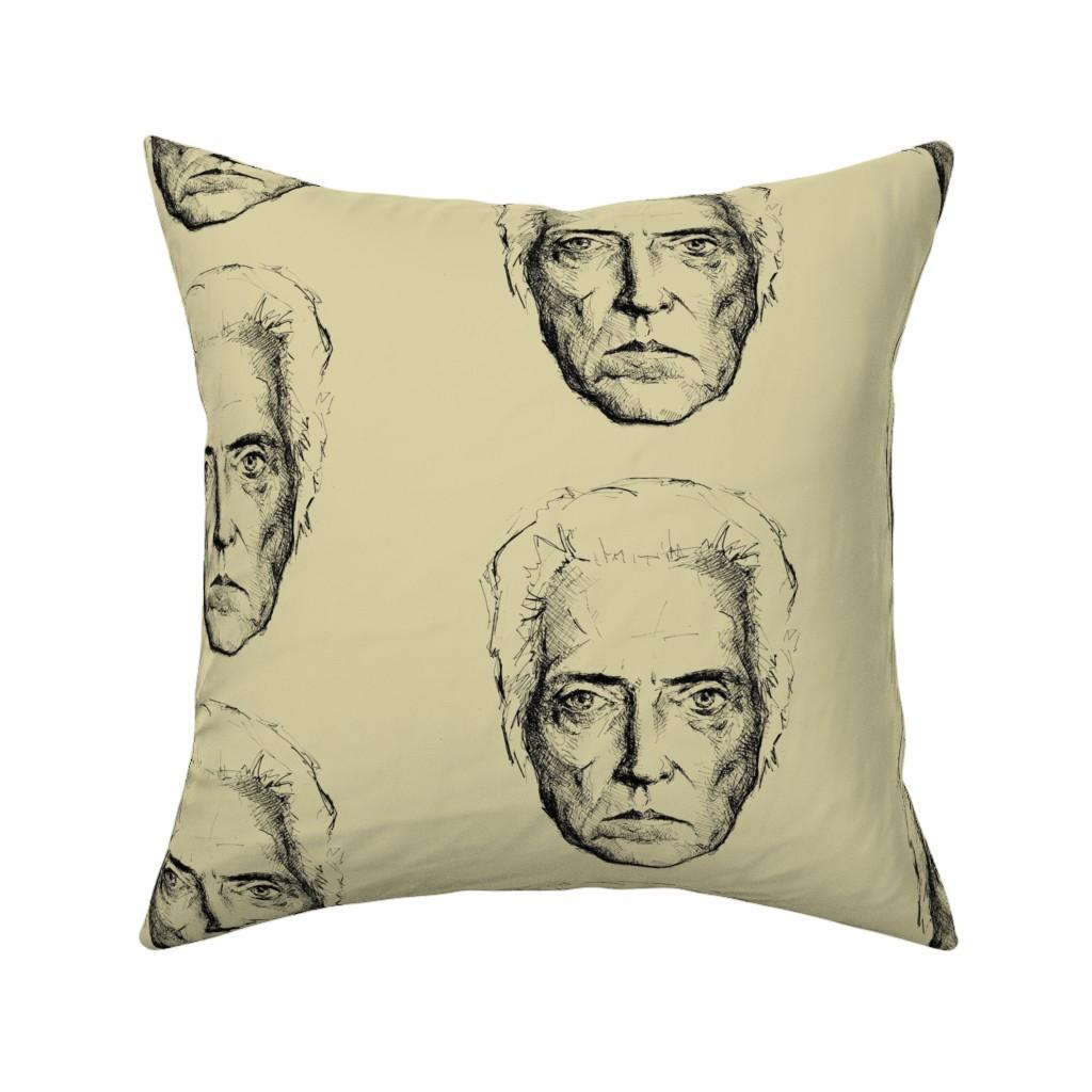 Catalan Throw Pillow featuring Walken fabric by juliealberti