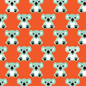 Retro cool koala australian bear animals illustration for kids