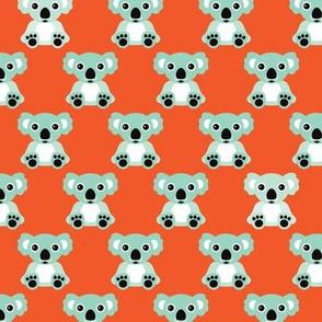 Retro cool koala australian bear animals illustration for kids
