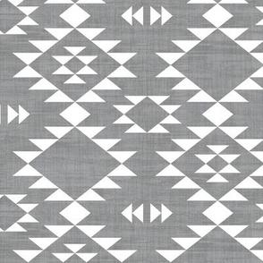 Navajo - Texture Gray White