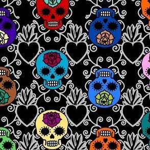 Simple DOTD skulls with sacred heart
