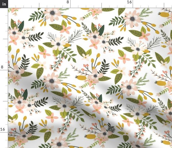 15897b8a1e1 sprigs and blooms // blush - Spoonflower