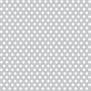 Quiver Full of Arrows Polka Dots in Light Gray