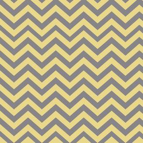 Dark Gray and Yellow Chevrons