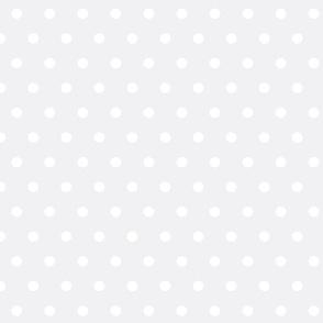 Light grey and white polka dots