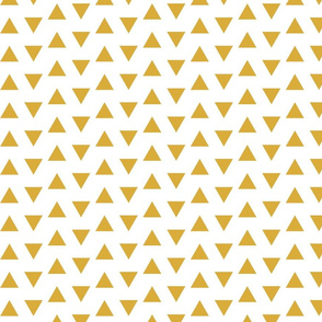 flying triangles // gold