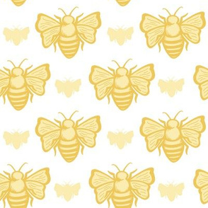 Sweet as Honey Bees - Bees white