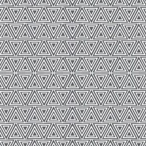 Layered triangles grey and white