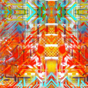 Orange Prism Graffiti Print