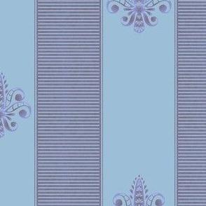 french lavender fleur de lis 2 inch stripe