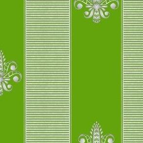 silver grass fleur de lis 2 inch stripe