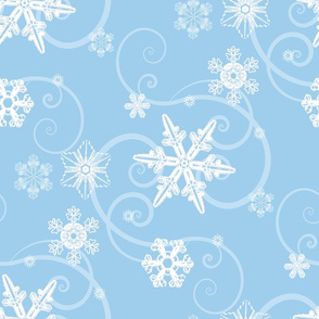 Snowflakes light blue