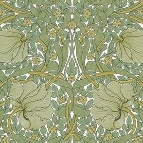 William Morris ~ Pimpernel ~ Original on White