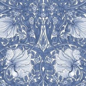 William Morris ~ Pimpernel ~ Blue and White