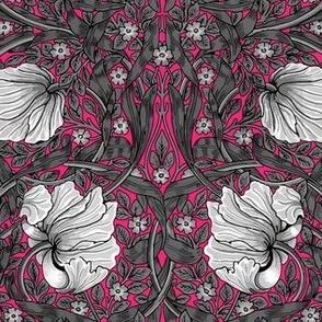 William Morris ~ Pimpernel ~ Black and White on Courtesan