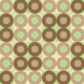 Green Argyle Circles