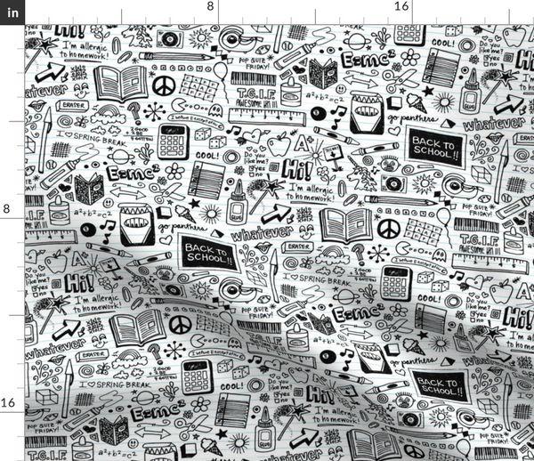 Schwarz Und Weiß, Kinder, Schule, Graffiti, Zeichnung, Handgemalt