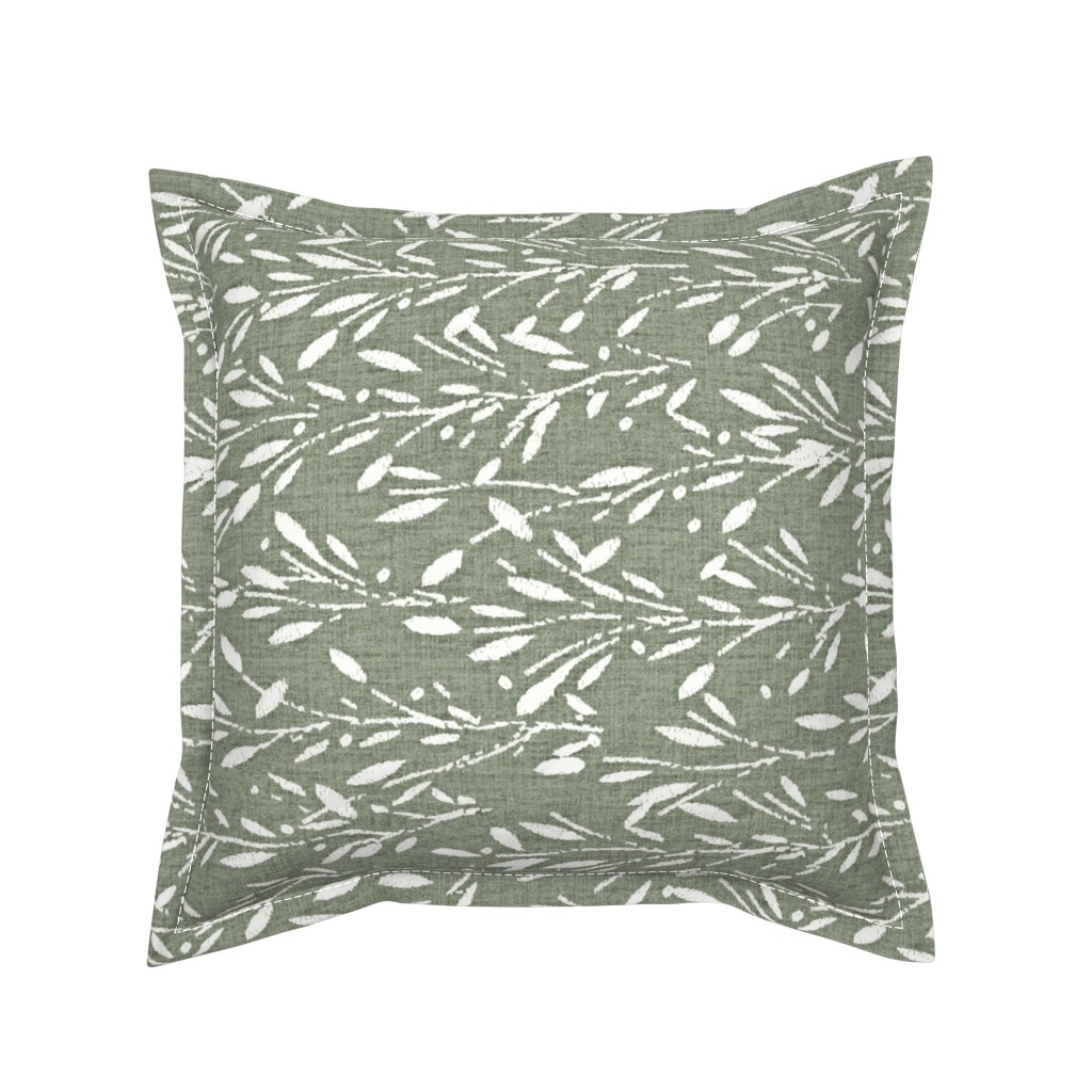 Serama Throw Pillow featuring Custom - Olive Grove Green rotate by kristopher_k