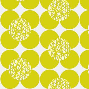 Fifties Flower Chartreuse