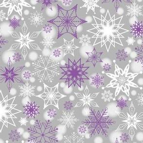 Amethyst Snowscape