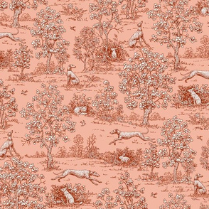 Red Reverse Greyhound Toile ©2010 by Jane Walker