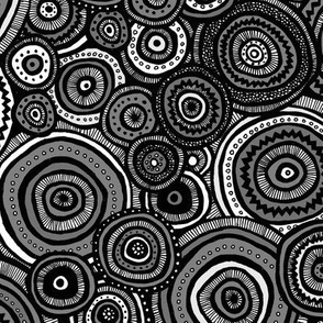 Tribal Circles (Gray)
