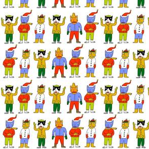 line of mitten cats