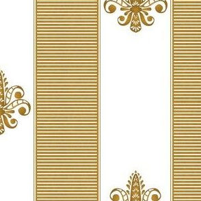 gold and diamond fleur de lis 2 inch stripe