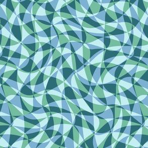 double triangles in soft aqua