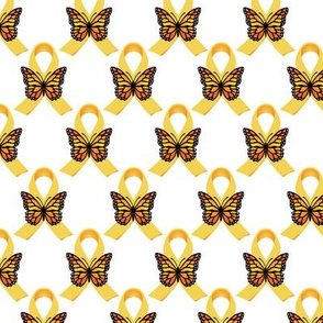 Gold Ribbons with Butterflies