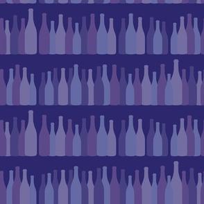 Rows Of Purple Wine Bottles