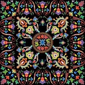 Sweet Ramona ~ Folk Art Tile
