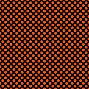 Orange Dots on Black