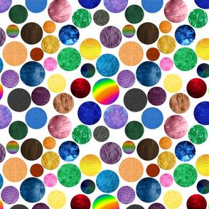 Children's Alphabet - Textured Dots