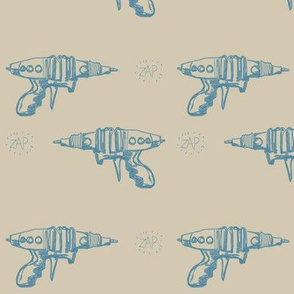 Retro Ray Gun Blue Zap
