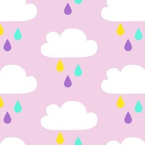 Colourful Rain Pink Big
